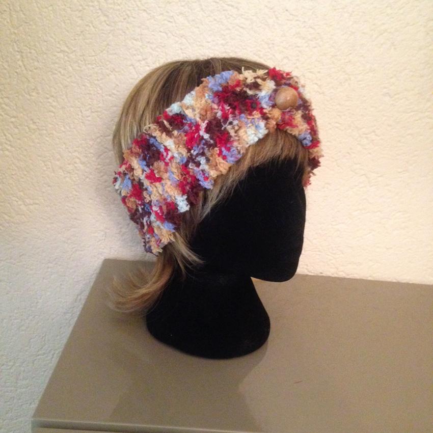 bonnet bandeau tricot fait main accessoire cheveux la touche finale