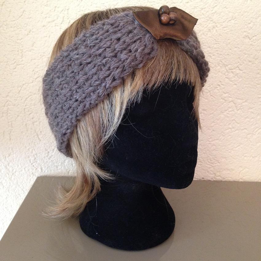 bandeau bonnet fait main accessoire tricot la touche finale