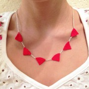 Collier Trigo rouge