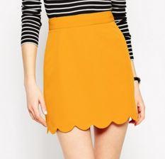 jupe jaune - Une couleur : le jaune moutarde