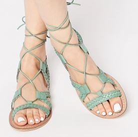 sandales asos - Une couleur : le mint