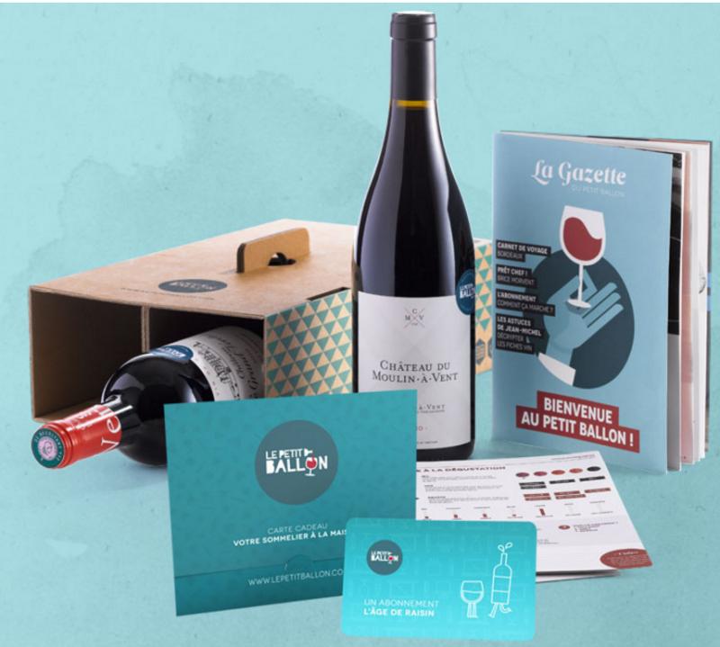 Une box de vin (à partir de 20€ - Le Petit Ballon)