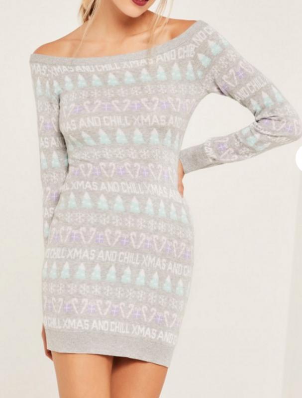 Une robe pull de Noël (modèle : Missguided - 37,5€)
