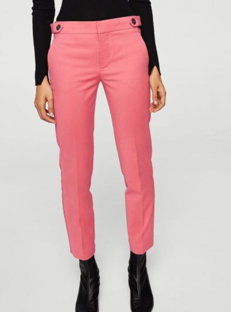 pantalon mango - Toutes en rose bonbon !