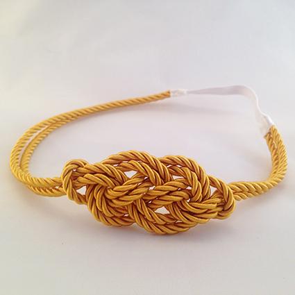Headband Marin jaune moutarde